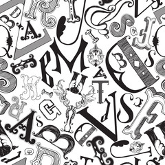 Letters in a chaotic mess