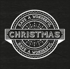 Vintage Christmas Emblem