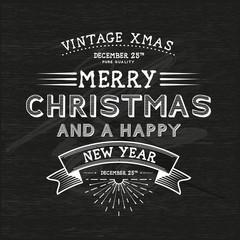 Vintage Christmas Message