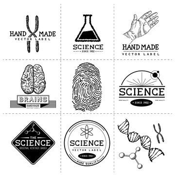 Vintage Science Labels
