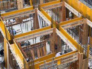 Fototapete - マンションの建設現場