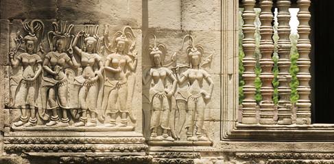 Devata Sculpture, Angkor Wat Temple, Cambodia