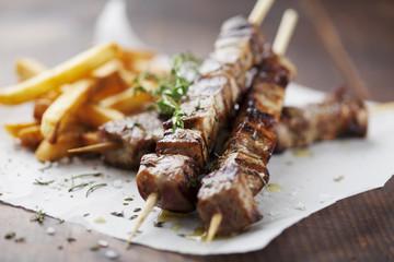 Fotorollo Fleisch meat skewer