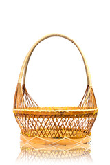 wood basket.