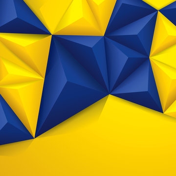 Blue and yellow geometric background.