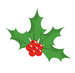Chrismas holly berry icon