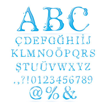Water alphabet Upper Case