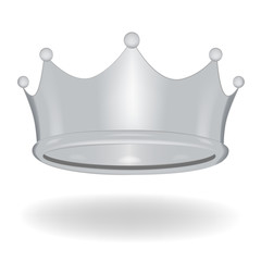 Cartoon crown isolated