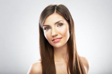 Beauty woman face portrait. Close up. Young model.