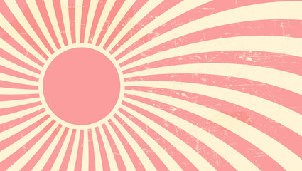 Strawberry, cream abstract hypnotic background. vector illustrat