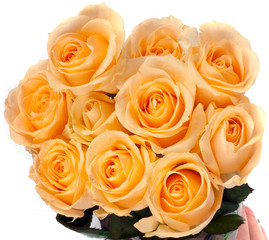 beautiful bouquet of yellow roses