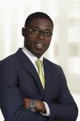 Afrikanischer Geschäftsmann / Student Portrait
