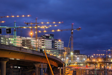 .Building activity in central Stockholm