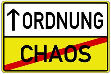 Ordnung Chaos Schild  #131128-svg03