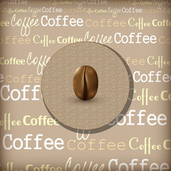 Coffee themed design illustration