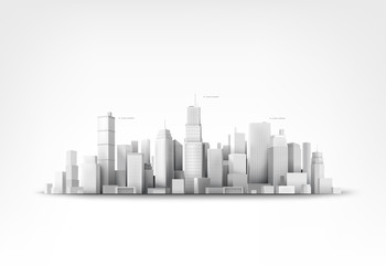 Vector illustration of skyscrappers