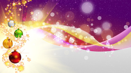 Purple Christmas card