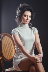 Portrait of elegant brunette woman