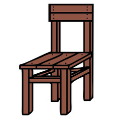 vector drawing of a chair
