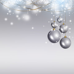 Silver Xmas Background