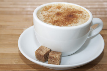 Coffee with cinnamon and  brown sugar  . .
