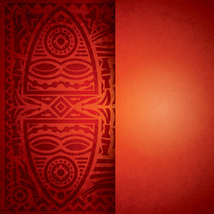 African art background for cover design.