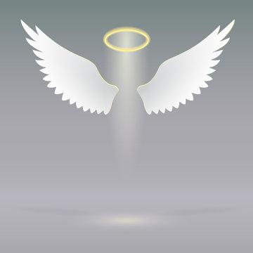 Angel wings on heavenly