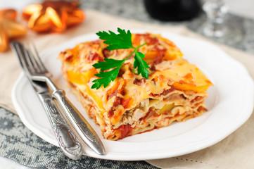 Chicken and Pumpkin Lasagna, Christmas Dinner