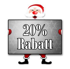 """Weihnachtsposter """"20% Rabatt"""""""