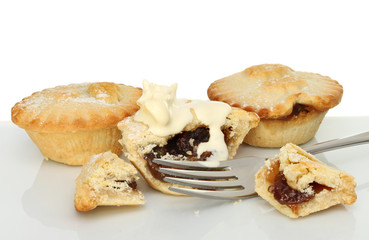 Mince pies and cream