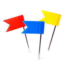 Color flag pins photo, marker push pin