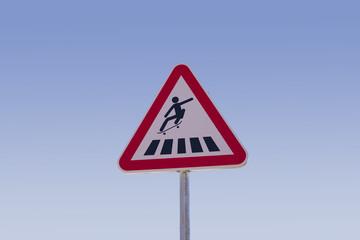 Skateboard sign