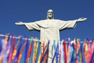 Rio Carnival Celebration at Statue of Corcovado