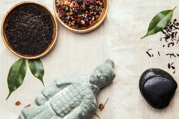 Herbal tea leaves for alternative therapy
