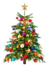 Fröhlich bunter Weihnachtsbaum