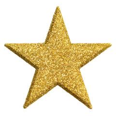 Goldener Stern, glitzernd