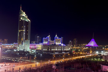 Downtown of Astana city - the capital of Kazakhstan
