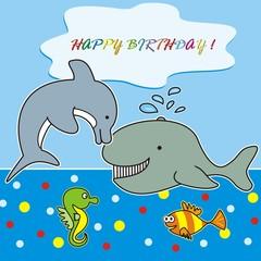 happy birthday - marine life
