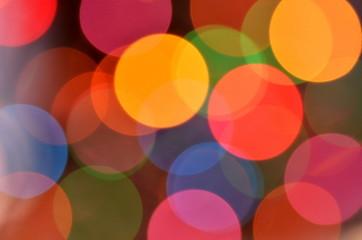 magiczny kolorowy efekt bokeh