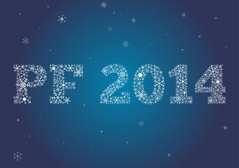 PF 2014 made of snowflakes