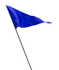 Blue Waving Golf Flag