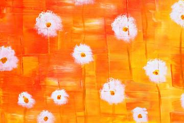original painting of flowers, oil painting.