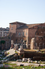 Forum of Augustus in the Imperial Fora, Rome, Italy.