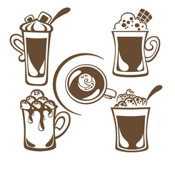 hot and sweet drinks symbols and emblems