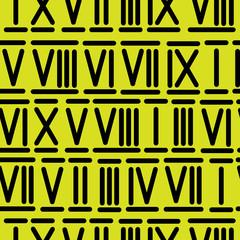 roman numerals seamless pattern