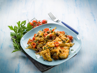fish with fennel tomatoes and capers