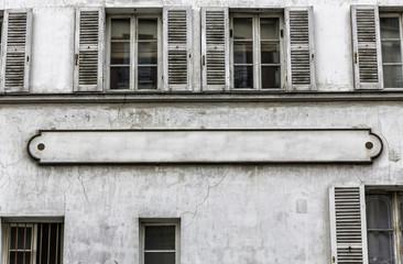 Typical Paris building facade