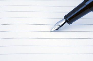 Blank card and the pen