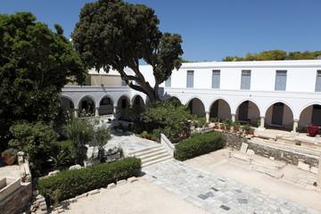 Église d'Ekatontapiliani sur l'île de Paros, Grèce