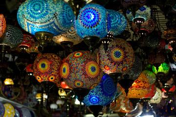 Turkish hanging lanterns.